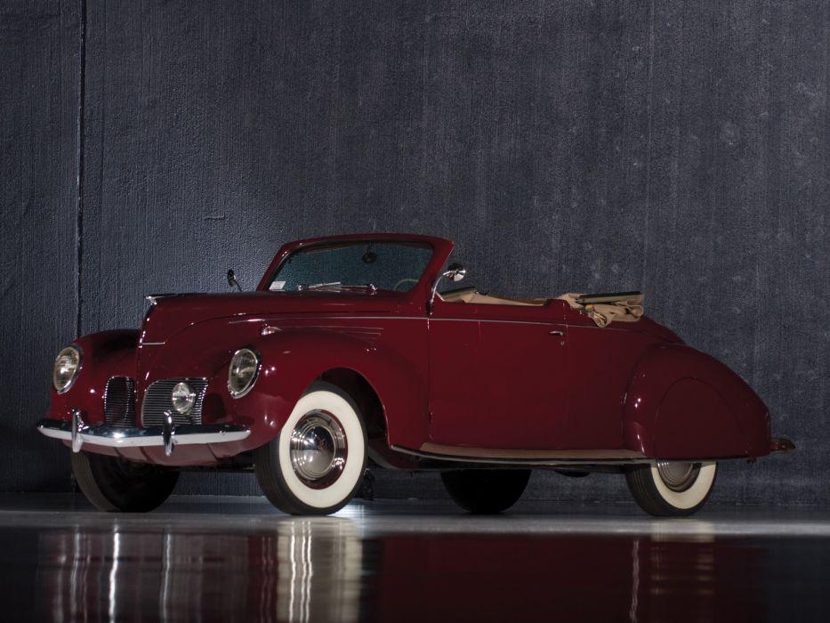 1938 Lincoln Zephyr Convertible Coupe retro  f wallpaper