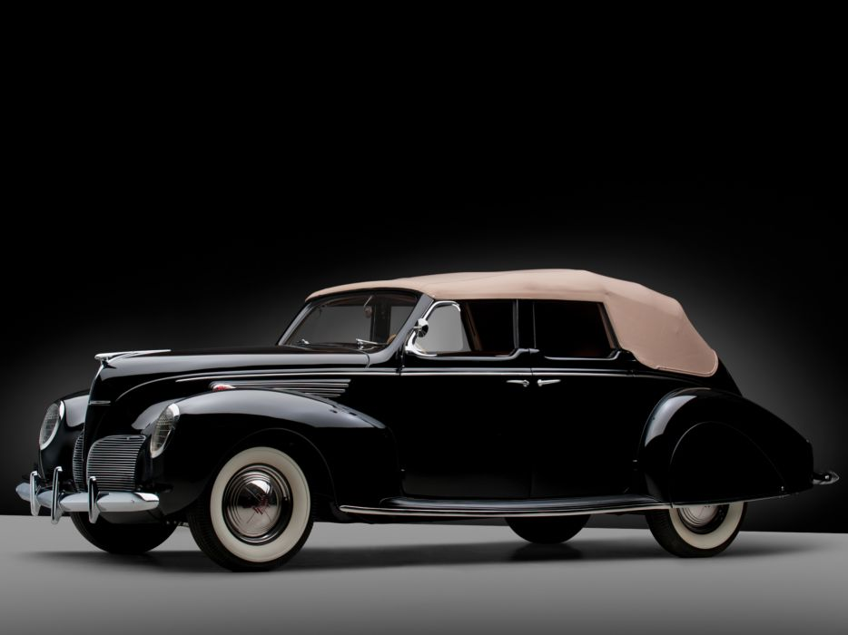 1938 Lincoln Zephyr Convertible Sedan retro luxury wallpaper