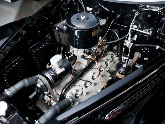 1938 Lincoln Zephyr Convertible Sedan retro luxury engine g wallpaper