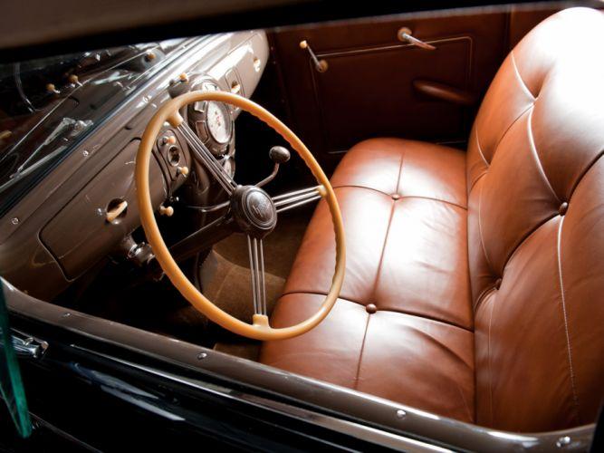 1938 Lincoln Zephyr Convertible Sedan retro luxury interior g wallpaper
