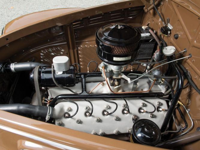 1938 Lincoln Zephyr Convertible Coupe retro engine f wallpaper