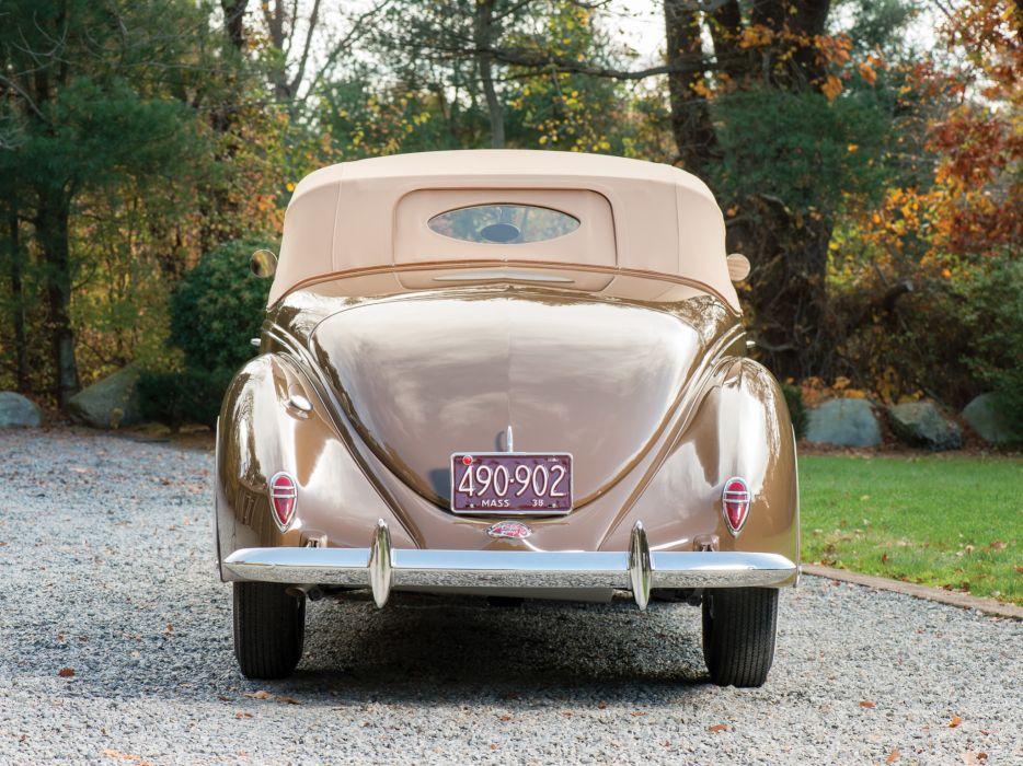 1938 Lincoln Zephyr Convertible Coupe retro wallpaper