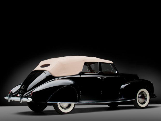 1938 Lincoln Zephyr Convertible Sedan retro luxury d wallpaper