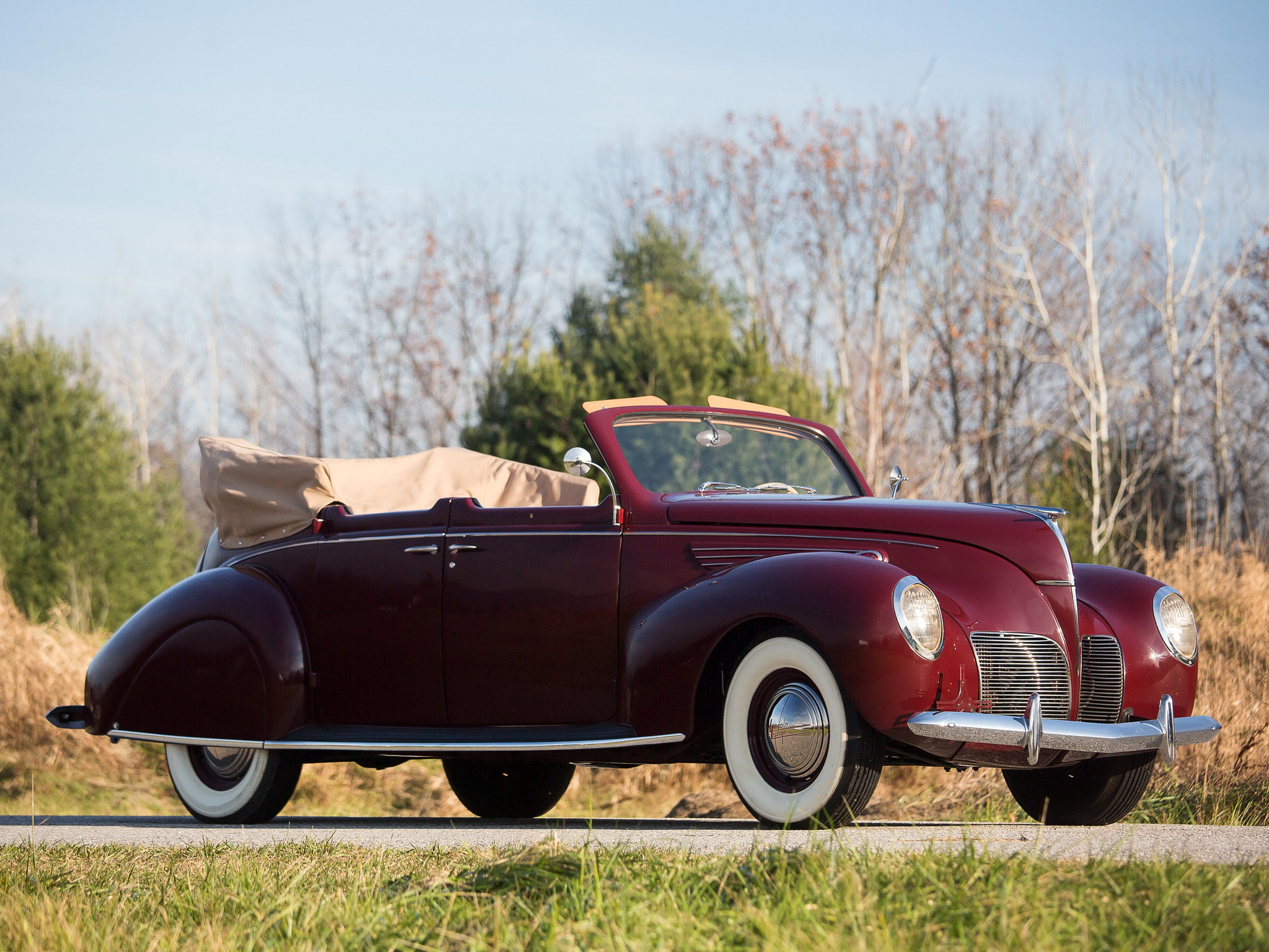 1938 lincoln zephyr convertible sedan retro luxury d for 1936 lincoln zephyr three window coupe