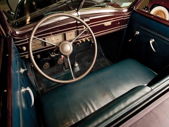 1939 Lincoln Model-K Convertible Sedan by LeBaron retro luxury interior g wallpaper
