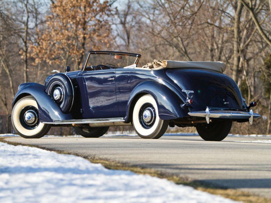 1939 Lincoln Model-K Convertible Victoria retro luxury    fg wallpaper
