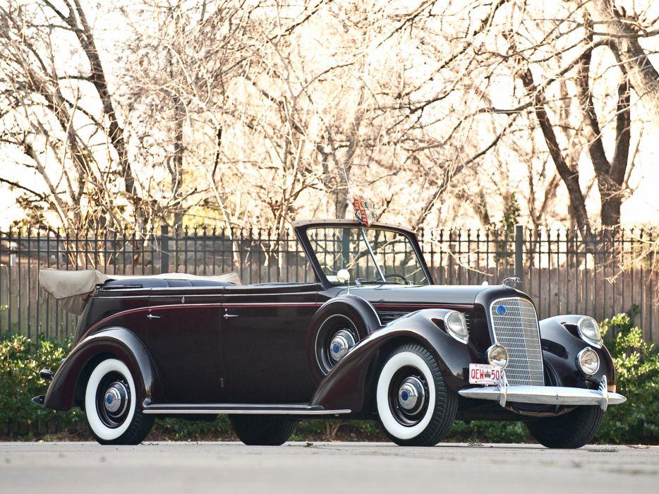 1939 Lincoln Model-K Convertible Sedan by LeBaron retro luxury   gd wallpaper