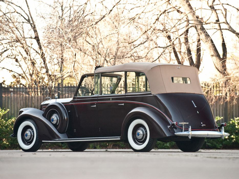 1939 Lincoln Model-K Convertible Sedan by LeBaron retro luxury wallpaper