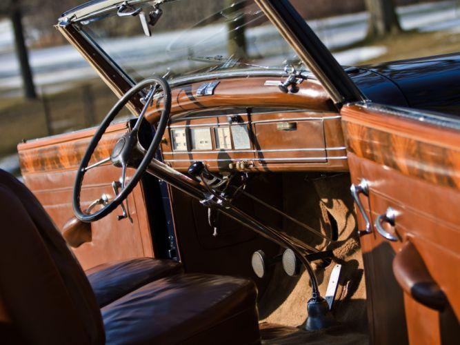 1939 Lincoln Model-K Convertible Victoria retro luxury interior g wallpaper