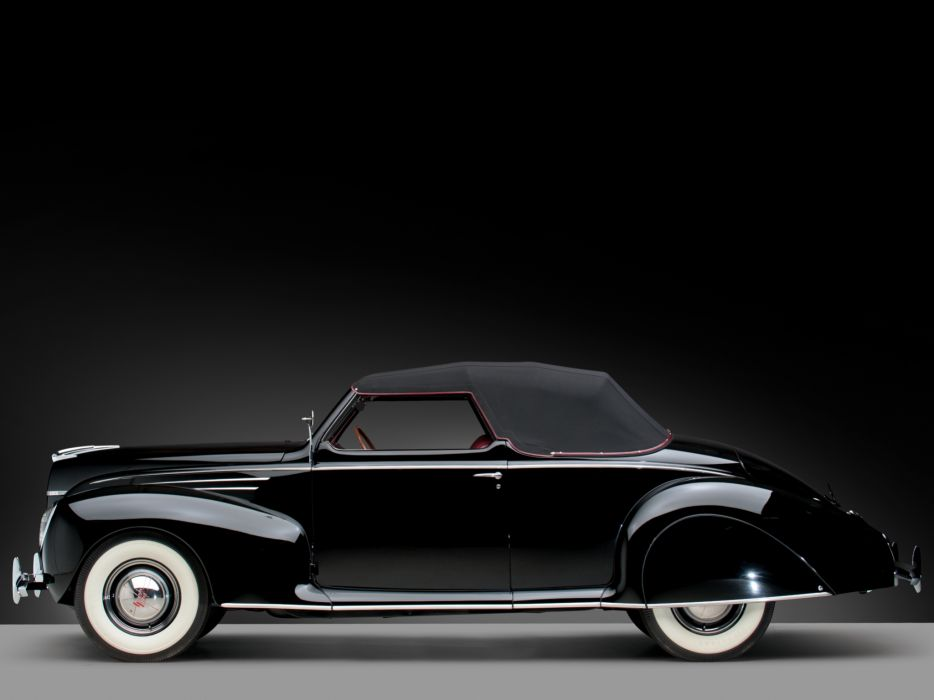 1939 Lincoln Zephyr Convertible Coupe retro luxury    f wallpaper