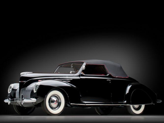 1939 Lincoln Zephyr Convertible Coupe retro luxury wallpaper