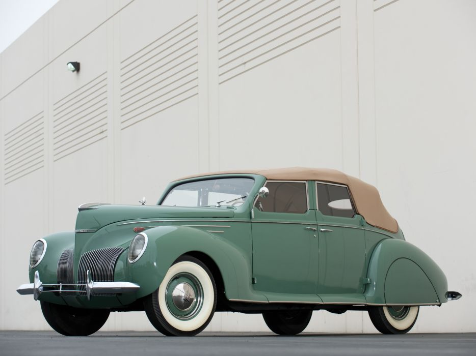 1939 Lincoln Zephyr Convertible Sedan retro luxury   f wallpaper