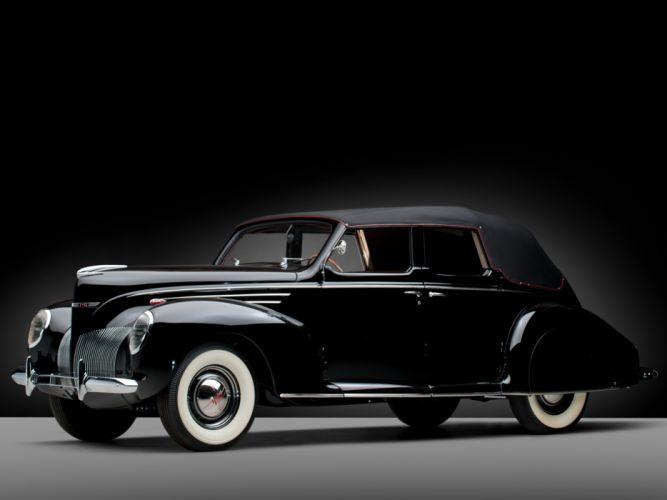 1939 Lincoln Zephyr Convertible Sedan retro luxury g wallpaper