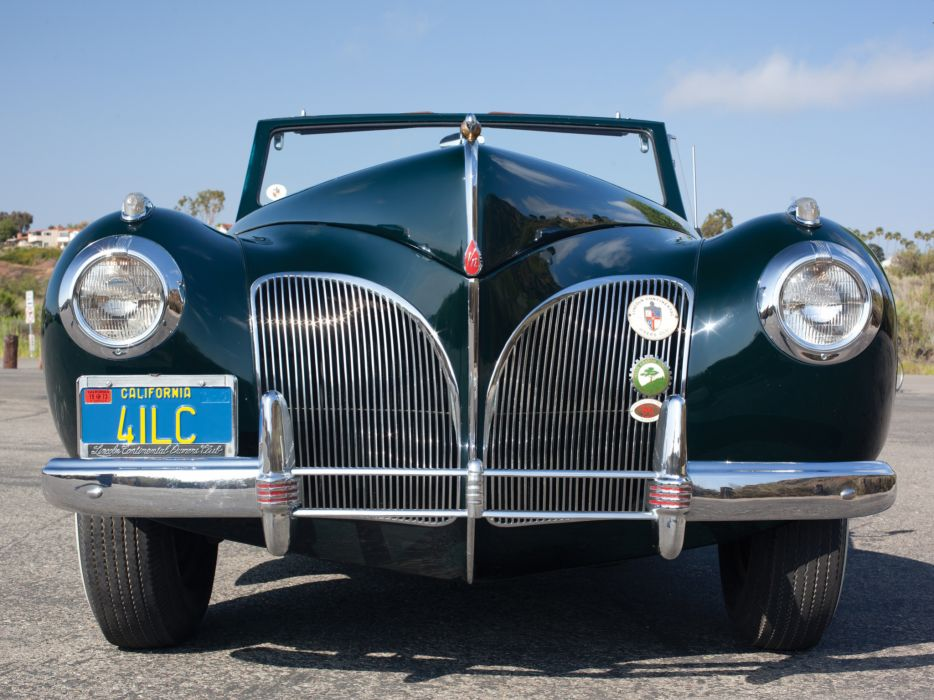 1940 Lincoln Zephyr Continental Cabriolet retro luxury  d wallpaper