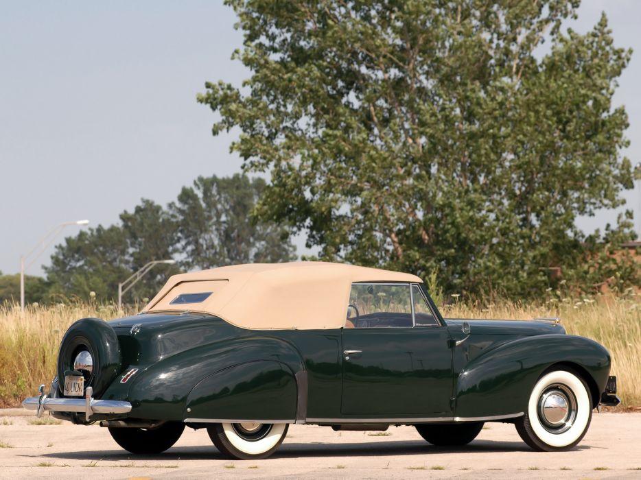 1940 Lincoln Zephyr Continental Cabriolet retro luxury  da wallpaper