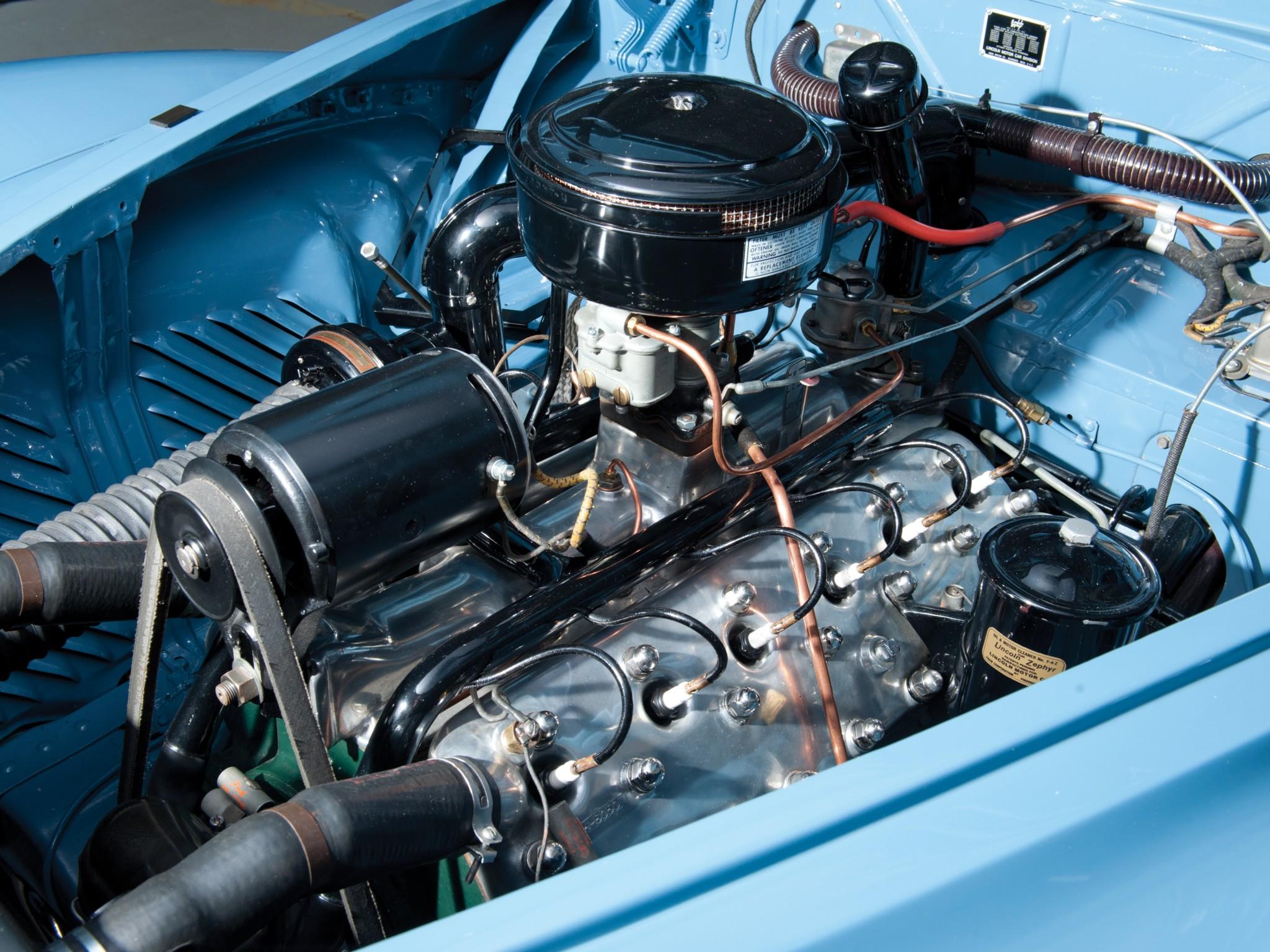 1940 Lincoln Zephyr Continental Cabriolet Retro Luxury Engine G Wallpaper