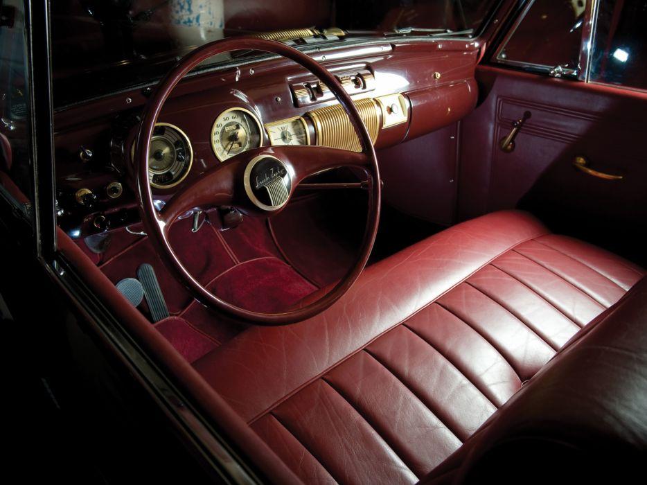 1940 Lincoln Zephyr Continental Cabriolet retro luxury interior       g wallpaper
