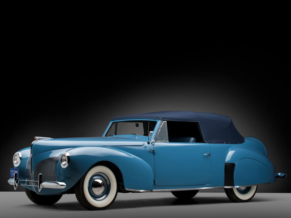 1940 Lincoln Zephyr Continental Cabriolet retro luxury  f wallpaper