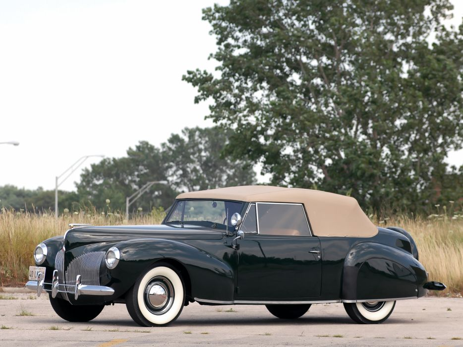 1940 Lincoln Zephyr Continental Cabriolet retro luxury  fs wallpaper