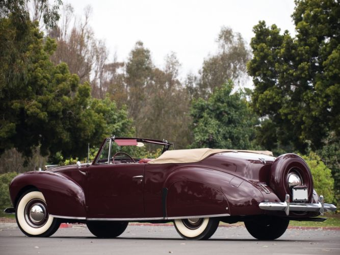 1940 Lincoln Zephyr Continental Cabriolet retro luxury f wallpaper