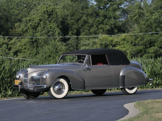 1941 Lincoln Zephyr Continental Cabriolet retro luxury g wallpaper