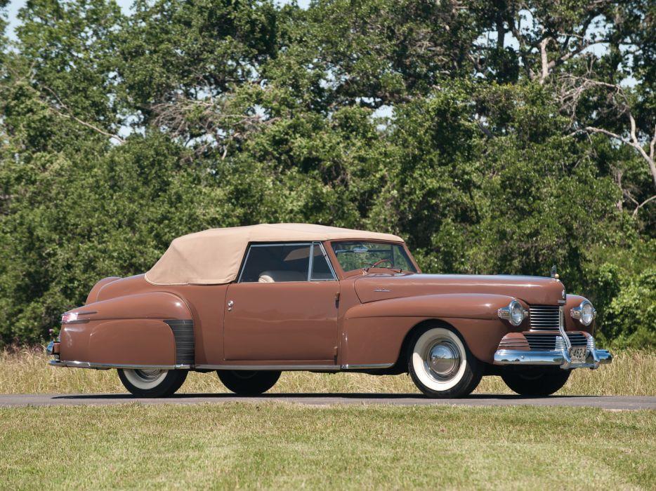 1942 Lincoln Continental 2-door Cabriolet 56 retro luxury wallpaper
