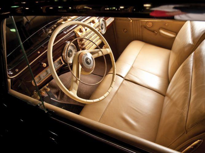 1942 Lincoln Continental Coupe 57 retro luxury interior h wallpaper