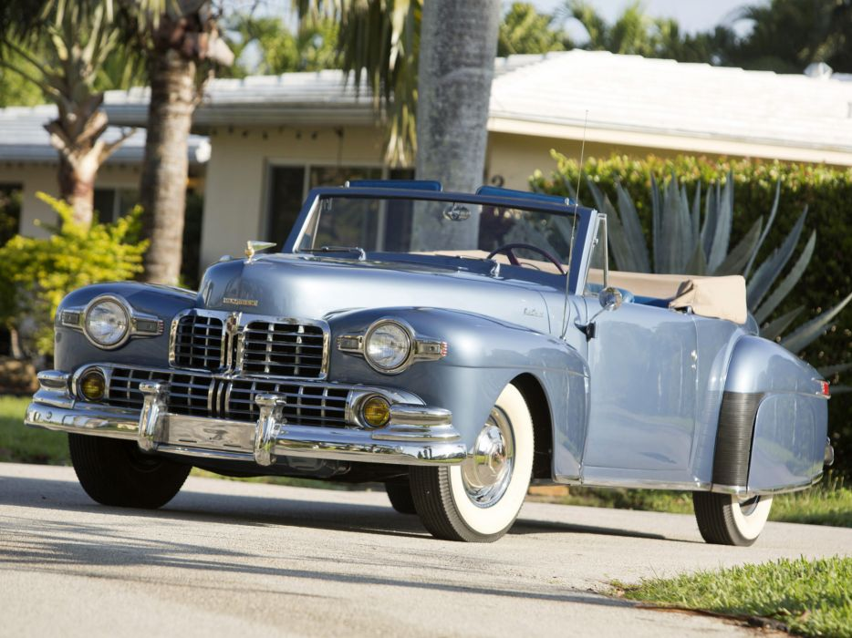 1946 Lincoln Continental Cabriolet retro luxury convertible   g wallpaper
