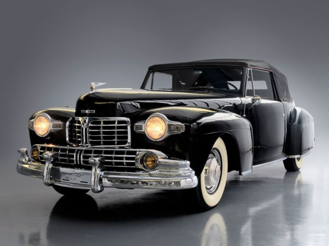 1946 Lincoln Continental Cabriolet retro luxury convertible g wallpaper