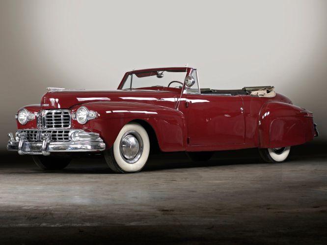 1946 Lincoln Continental Cabriolet retro luxury convertible wallpaper