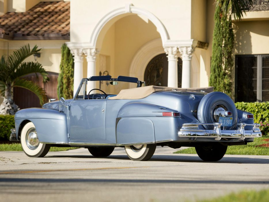 1946 Lincoln Continental Cabriolet retro luxury convertible   gd wallpaper