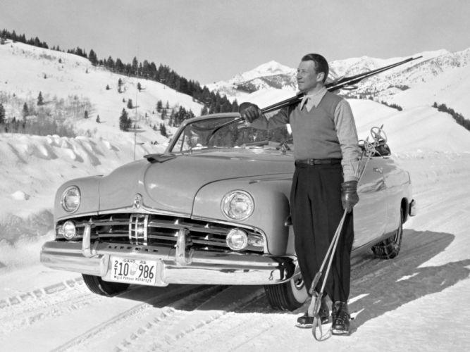 1949 Lincoln Cosmopolitan Convertible 76 retro winter snow wallpaper