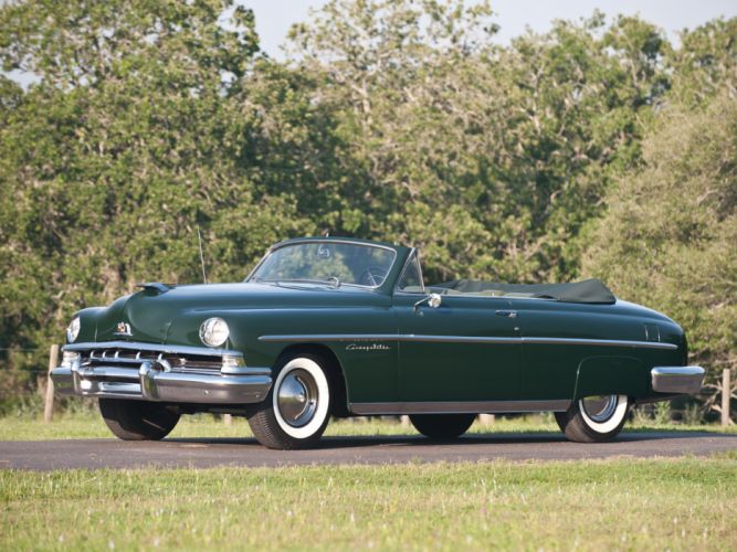 1951 Lincoln Cosmopolitan Convertible H-76 retro luxury gr wallpaper