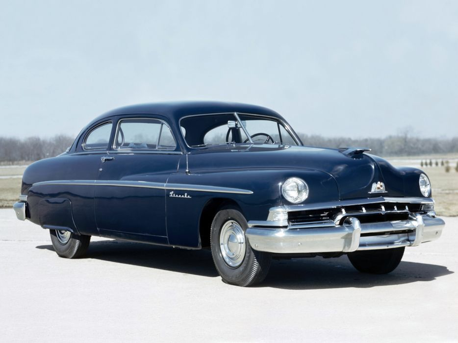 1951 Lincoln Series-1EL Club Coupe L-72B retro wallpaper