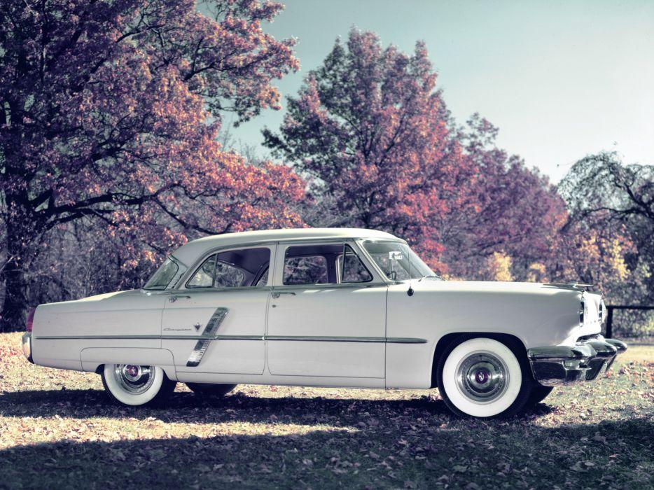 1953 Lincoln Cosmopolitan 4-door Sedan 73A retro luxury wallpaper