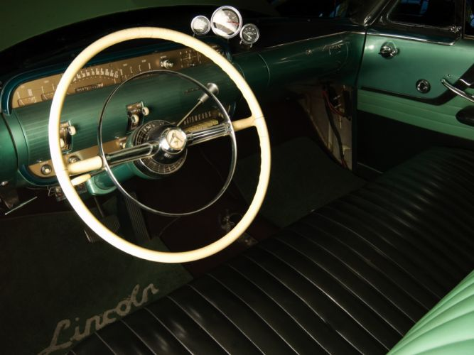 1954 Lincoln Capri Panamericana Road Racer retro race racing interior h wallpaper