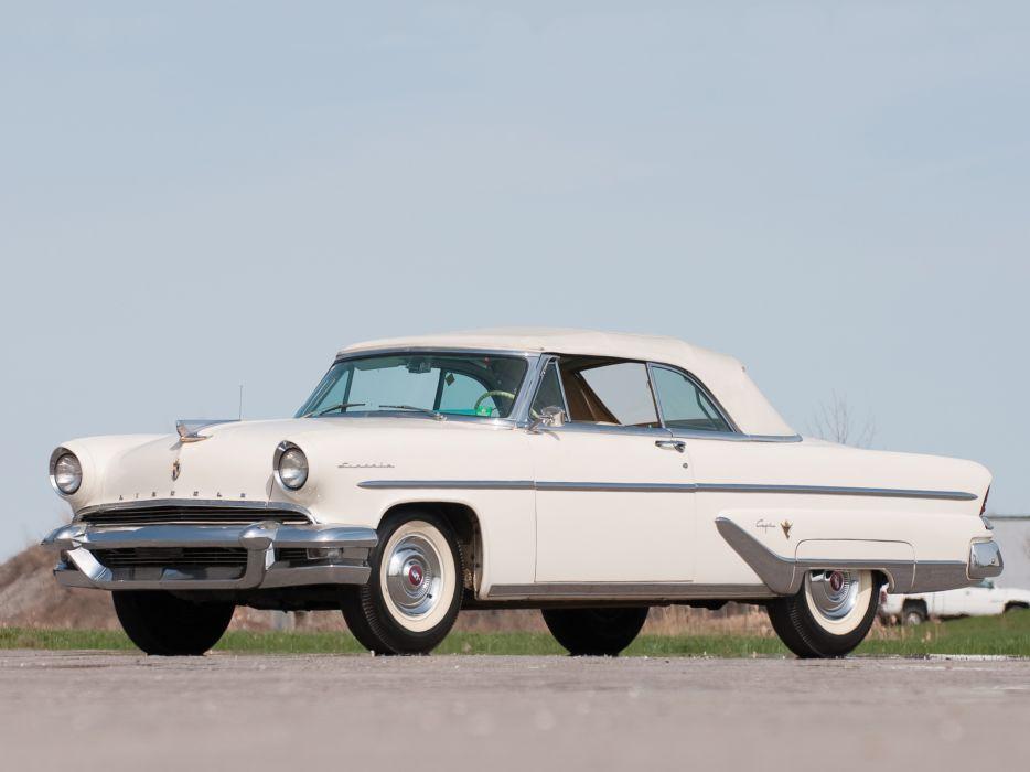 1955 Lincoln Capri Special Custom Convertible 76A retro luxury wallpaper