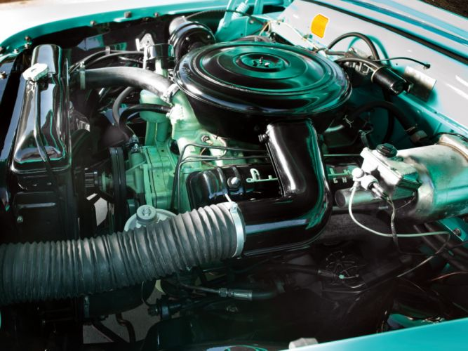 1956 Lincoln Premiere Convertible 76B retro luxury engine h wallpaper
