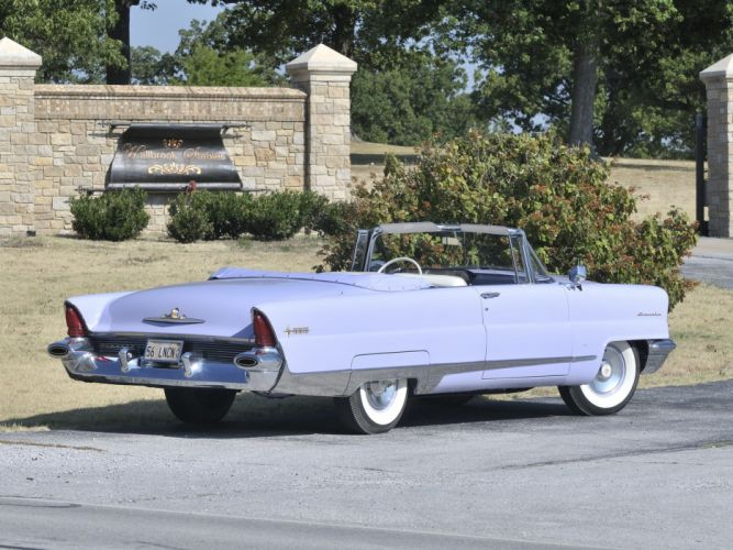 1956 Lincoln Premiere Convertible 76B retro luxury g wallpaper
