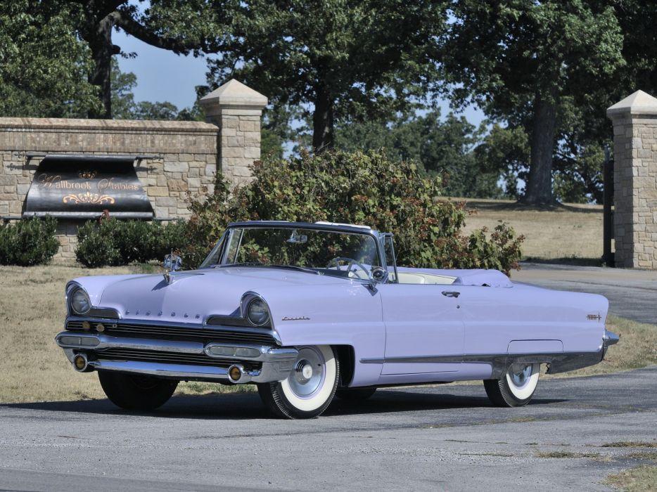 1956 Lincoln Premiere Convertible 76B retro luxury f wallpaper