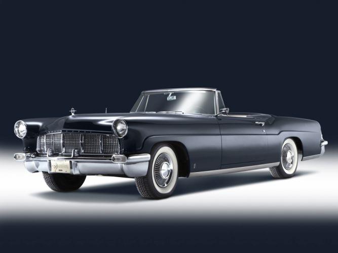 1957 Lincoln Continental Mark-II Convertible luxury retro wallpaper