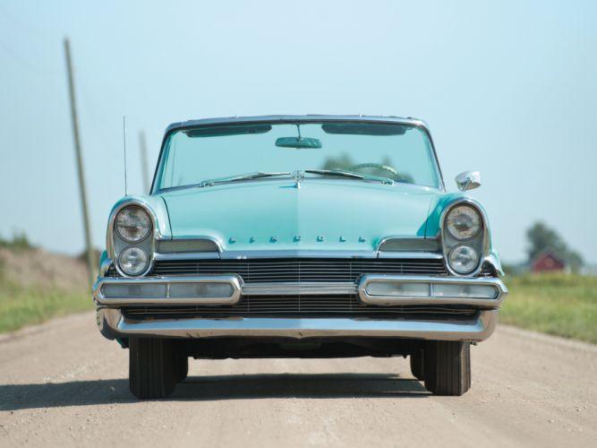 1957 Lincoln Premiere Convertible 76B retro luxury g wallpaper