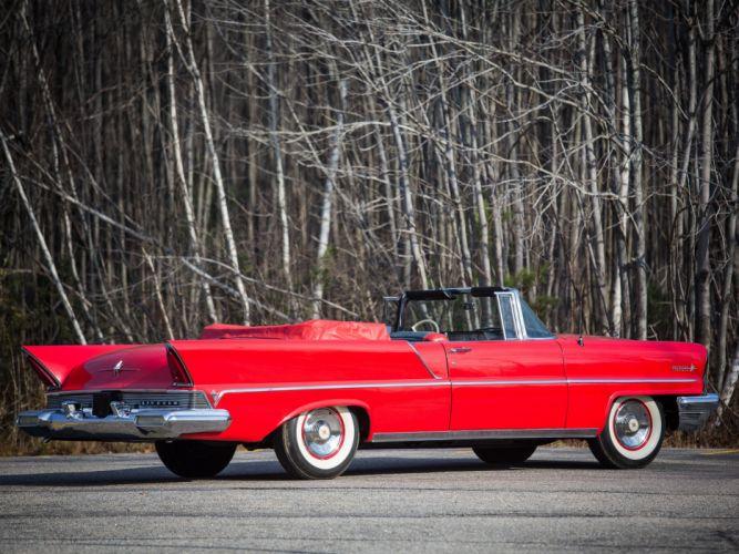 1957 Lincoln Premiere Convertible 76B retro luxury n wallpaper