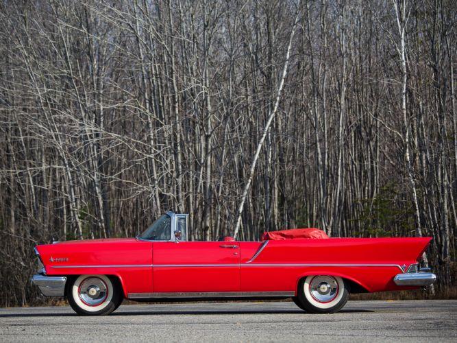1957 Lincoln Premiere Convertible 76B retro luxury jw wallpaper