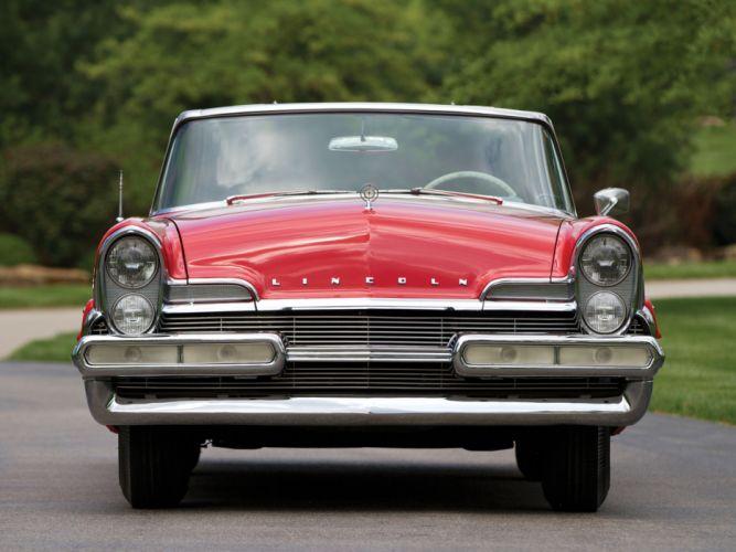 1957 Lincoln Premiere Convertible 76B retro luxury f wallpaper