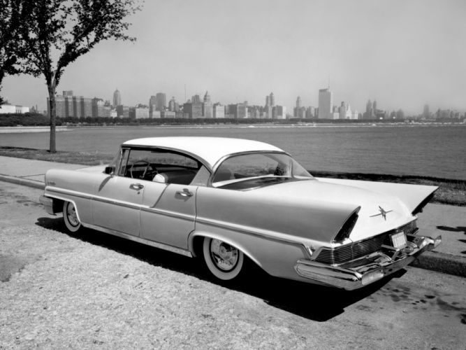 1957 Lincoln Premiere Landau 4-door Hardtop 57B retro luxury f wallpaper