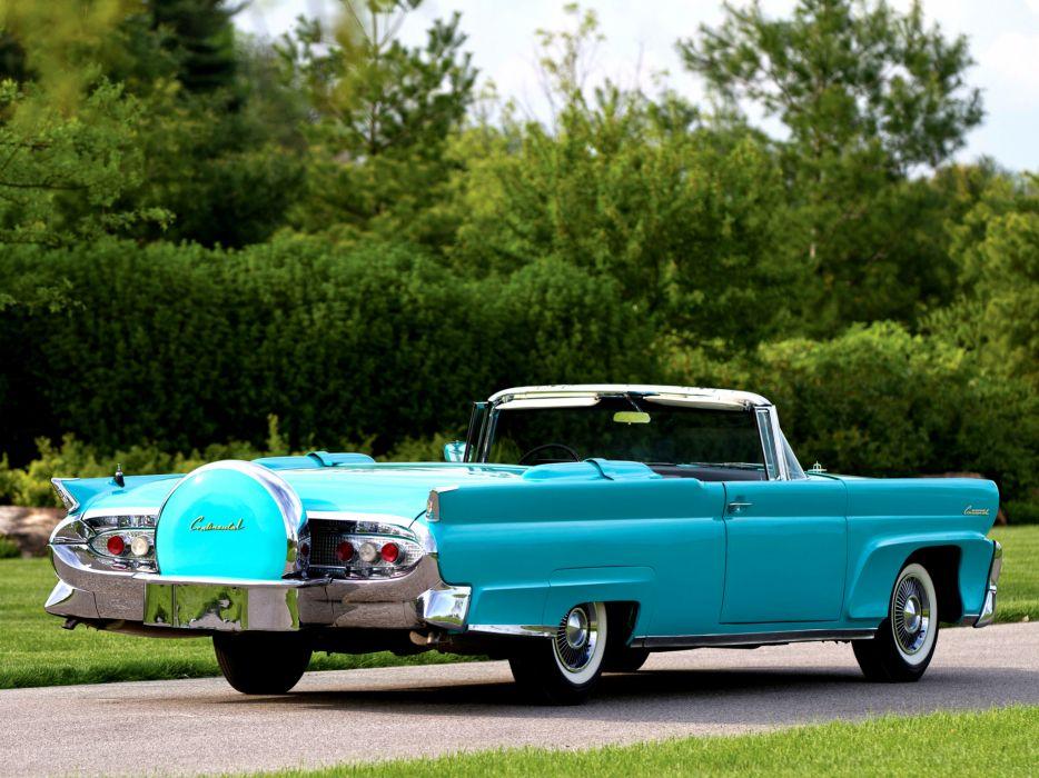 1958 Lincoln Continental Mark-III Convertible 68A retro classic     f wallpaper