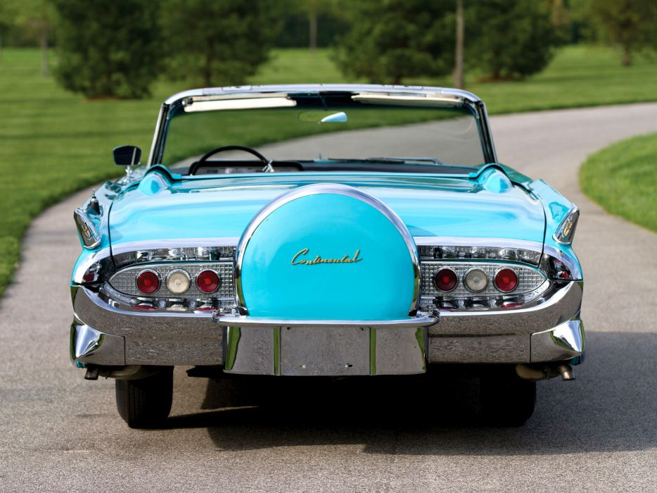 1958 Lincoln Continental Mark-III Convertible 68A retro classic    g wallpaper