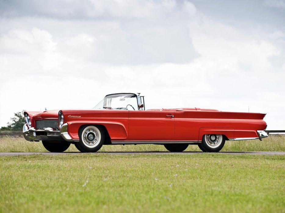 1958 Lincoln Continental Mark-III Convertible 68A retro classic wallpaper