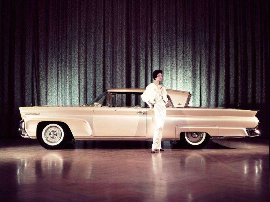 1958 Lincoln Continental Mark-III Hardtop Coupe 65A retro luxury wallpaper